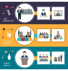 Public Speaking Banner Set vector