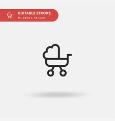 Pushchair simple icon symbol vector