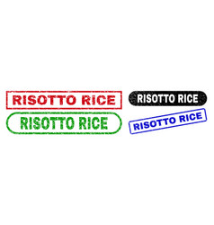 Risotto rice rectangle stamps with distress vector