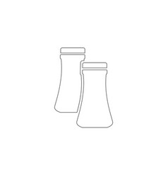 salt and pepper flat icon vector image
