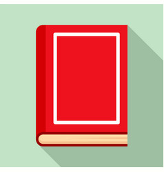 school book icon flat style vector image