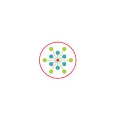 science molecule logo template icon element vector image