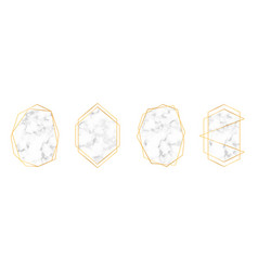 set golden geometric frames in art deco style vector image