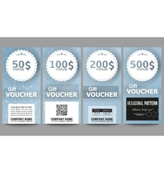 Set of modern gift voucher templates Chemistry vector