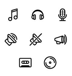Set of music and sound icons vector image