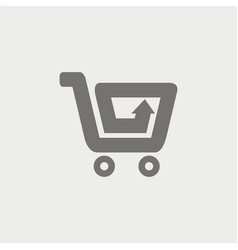 shopping cart arrow logo vector image