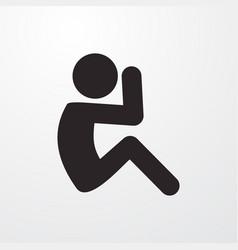 Sit ups icon vector