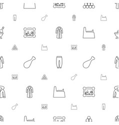 Sketch icons pattern seamless white background vector