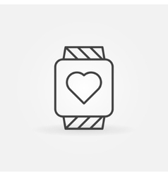 Smartwatch icon or logo vector