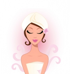 Spa and wellness beauty woman vector