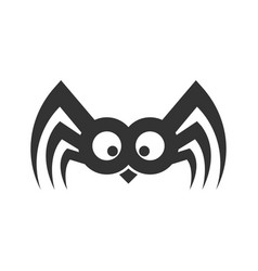 Spider funny logo sign eps vector