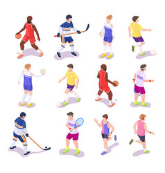 sport people set isometric vector image