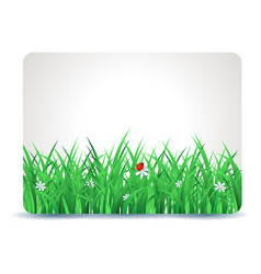 spring signboard with grass vector image