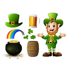 st patricks day elements collection vector image