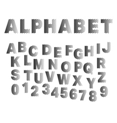 Strip alphabet font template vector image