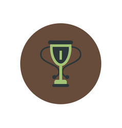 Stylish icon in color circle cup winner vector
