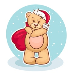 teddy santa claus vector image