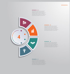 template infographic 4 positions for text area vector image