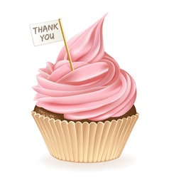 Thank You Cupcake vector