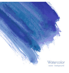 Turquoise navy blue indigo watercolor texture vector