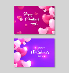 two gift certificates happy valentines day heart vector image