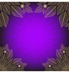 Violet vintage frame vector image vector image