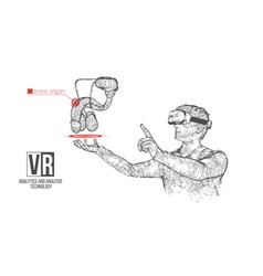 Vr headset man with man genitals organ vector