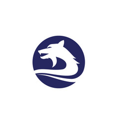 wolf logo template vector image
