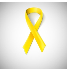 Yellow ribbon loop vector image