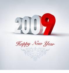 2009 greeting card vector image