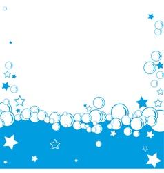bubble border vector image vector image