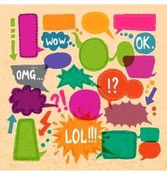 Bubble speech icons set vector image