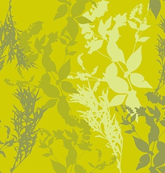 flowers on green background Seamless pattern vector image vector image
