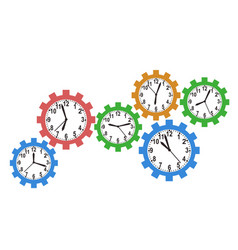 gear clock background vector image