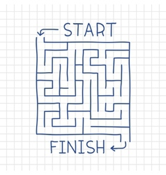 Hand drawn labyrinth in notepad vector image