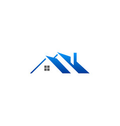 house roof construction logo vector image