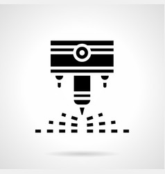 industrial laser cutter glyph style icon vector image vector image