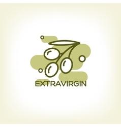 logo of olive branch vector image