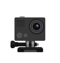 action camera in flat style vector image vector image