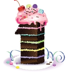 Cake one vector image