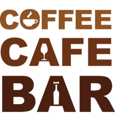 coffee cafe bar vector image vector image