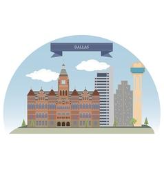 Dallas vector image vector image