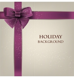Elegant holiday background with bow and space for vector image