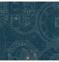 Blueprint Architectural plan vector image