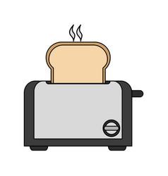 Color image cartoon electric bread toaster vector