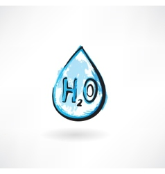 water drop grunge icon vector image