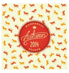 Autumn season 2014 vector image vector image