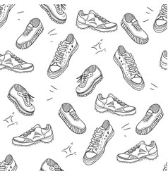 boots doodle seamles pattern vector image
