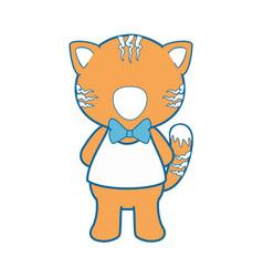 cartoon tiger animal icon vector image