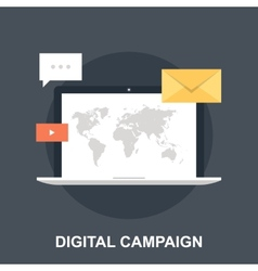 Digital campaign vector